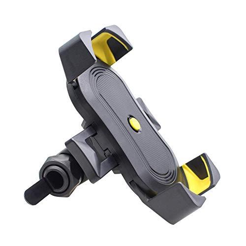 Soporte para Teléfono Soporte Universal para Teléfono Bicicleta Soporte para Motocicleta Soporte GPS Móvil Anticaída para iPhone 12 11Pro MAX Huawei Xiaomi Yellowblack