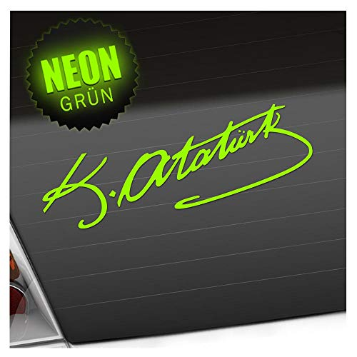 Kiwistar Mustafa Kemal Atatürk Aufkleber Sticker 25 Farben Neon Matt Chrome