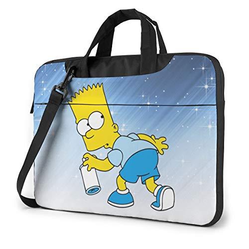 Laptop Sleeve Case,Ba_Rt Si_Mpson 13/14/15.6 Inch Laptop Bag Briefcase Messenger Notebook Computer Bag with Shoulder Strap Handle