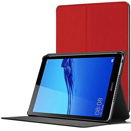 Forefront Cases Funda para Huawei Mediapad M5 Lite 8, Estuche Protector con Cierre Magnético para Mediapad M5 Lite 8 2019 Caso Case Cover, Rojo