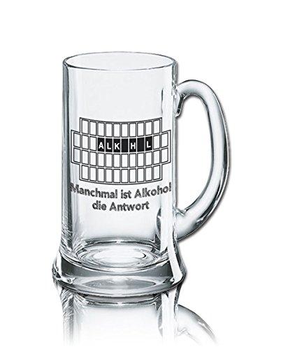 PorcelainSite Geschenkideen GmbH Rahmenlos Icon - Jarra de cerveza (0,5 L), diseño con texto en alemán
