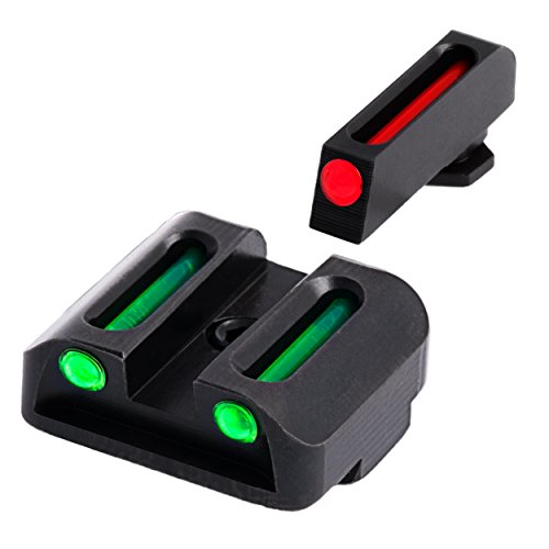 TRUGLO Fiber-Optic Front and Rear Handgun Sights for Glock Pistols, Glock 20, 21, 25, 29, 30, 31, 32, 37, 40, and 41, Black, One Size (TG131G2)