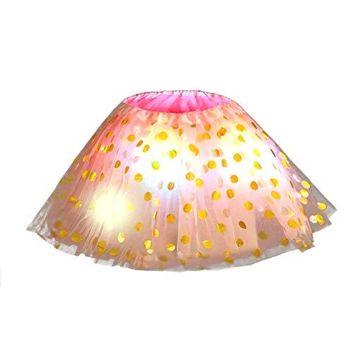 LHDDWY Baby Meisjes Meisjes Tutu Rok, Oplichten Fluffy Mini Rok, Mesh Kostuums Rave Kleding voor Kinderen Kerstfeest Xmas Nieuwjaar