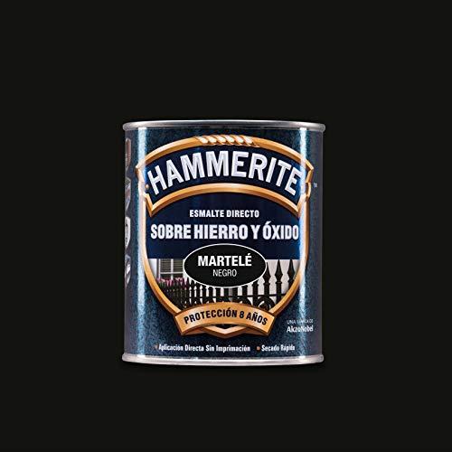 Hammerite Esmalte directo sobre hierro y óxido Martelé Negro 750 ml