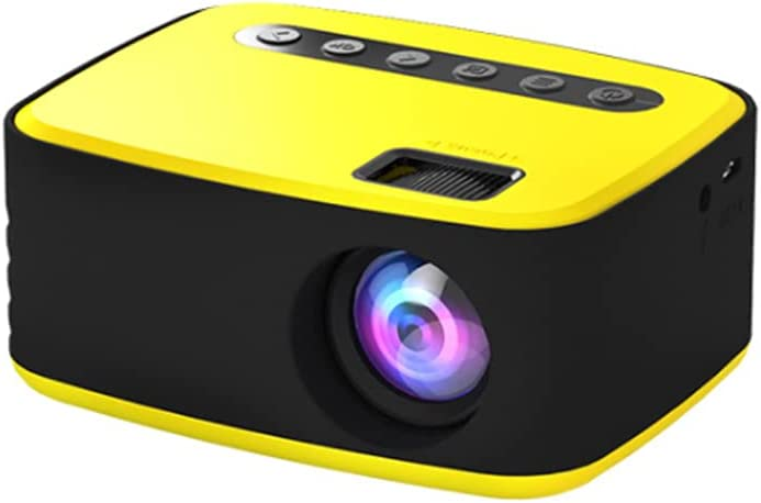 Mini Portable Projection Outdoor Movie Projector Portable Projector for Kids Gift Video Projector for Bedroom HD Mini Projector (Yellow)