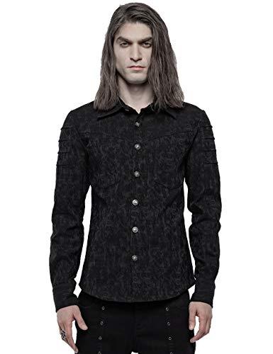 Punk Rave Viktorianisches elastisches Jacquard-Hemd für Party, Abendessen, Punk,...