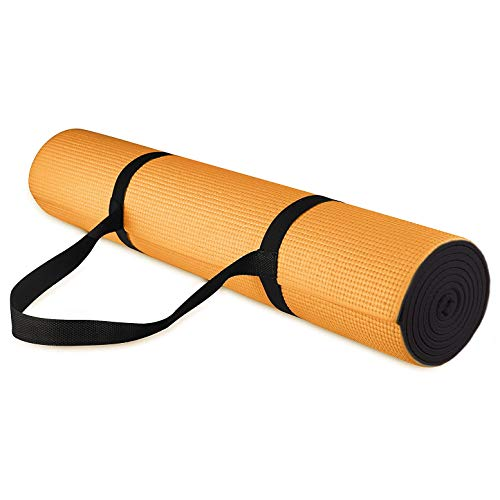 SWEATZ Yoga Mat ~ Ultra Premium 1/4 Inch Thick Pro Yoga Mat Eco Friendly Non Slip Fitness Exercise Mat with Carrying Strap-Workout Mat for Yoga, Pilates, Floor Exercises, Home Gym, Non-Toxic