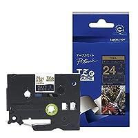 ブラザー工業 TZe-RN54 TZeテープ リボンテープ(ネイビーブルー地/金字) 24mm