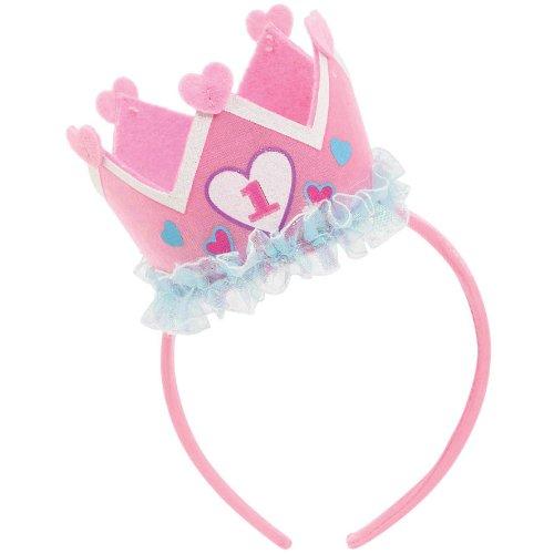 Girl's 1st Birthday Felt Novelty Headband