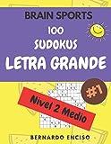 Brain Sports 100 Sudokus Letra Grande Nivel 2 Medio: Para Adultos Y Niños | Con Respuestas | Libro de Sudokus Medios | Sudoku Para Mayores | Sudoku ... | Rompecabezas Sudokus | Formato Grande