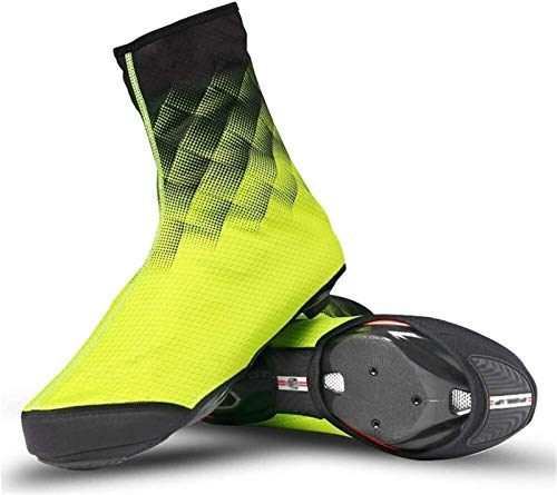 Cubiertas de zapatos de ciclismo a prueba de frío e impermeables, zapatos para bicicletas para hombres cubiertas de zapatos de bicicleta con diseño de bicicleta de carretera de diseño reflectante MTB