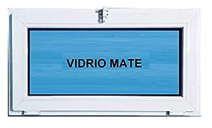 Finestra in PVC 800 x 500 ribaltabile (Golpete) Climalit opaco