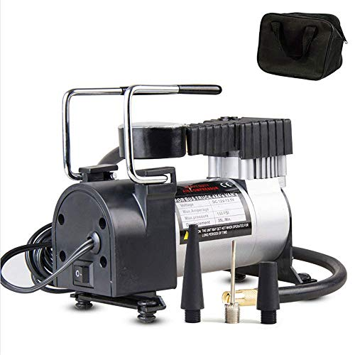 Portable Car Tires Air Compressor, Upgraded 12V DC Single Cylinder Inflator Pump with Thermal Overload Protection for Truck, Motorcycles, Bicycles, SUV, Dinghy, Air Bed,Wearable