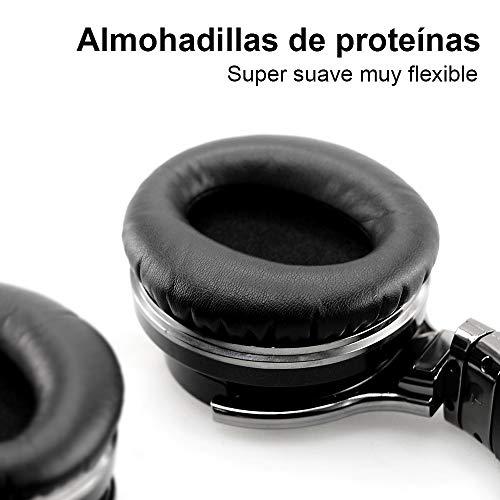 Cowin E7 Auriculares inalámbricos Bluetooth con bajos profundos, Almohadillas de Protección Cómodo, 30 Horas de Tiempo de Juego para Viajes (Negro)