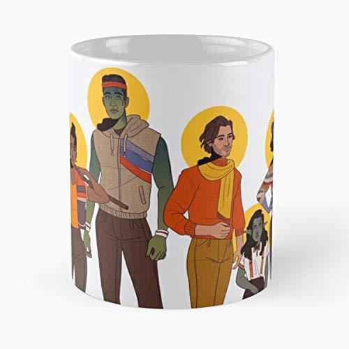 80S - La mejor taza de café de cerámica de mármol blanco