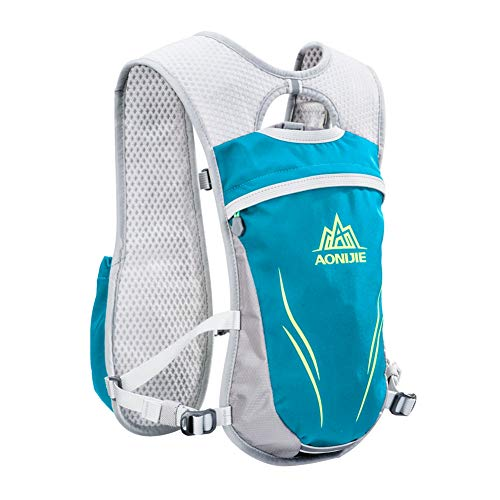AONIJIE Running Hydration Vest Backpack for Women and Men Lightweight Trail Running Backpack 5.5L Mint Green