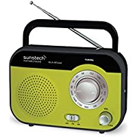 Sunstech RPS560GN - Radio de Sobremesa (AM/FM, 800 mW RMS), Color Verde
