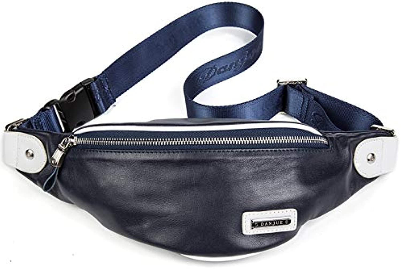 YCX Outdoor Casual Größe Taschen, Mode Leder Crossbody Tasche, Umhngetasche, Gürteltasche, Geeignet für Reisen, Arbeit, Gehen,B
