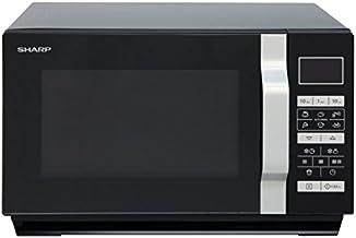 Sharp Home Appliances R760BK Encimera - Microondas (Encimera, Microondas combinado, 23 L, 900 W, Tocar, Negro)