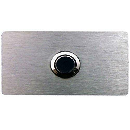 Eurosell Design Klingelplatte V2A Edelstahl Klingel Schild Geschenk zum Umzug Türklingel Klingelknopf Klingelschild - Door Bell Plate Stainless Steel Button mit oder ohne LED Beleuchtung
