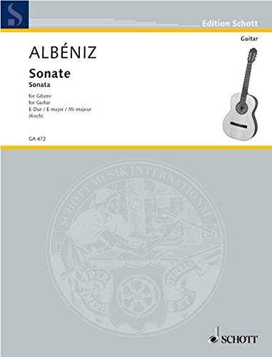 Sonate E-Dur: Gitarre. (Edition Schott)
