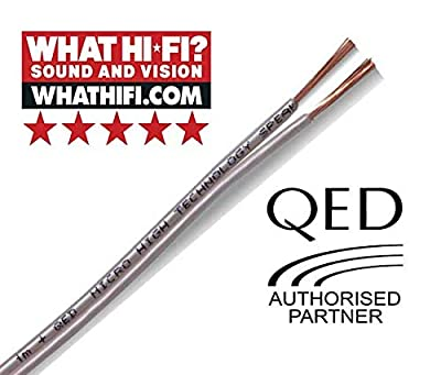 QED Performance Micro White OFC Speaker Cable Ideal for HiFi, Home Cinema and Bookshelf Loudspeakers (30 metres)