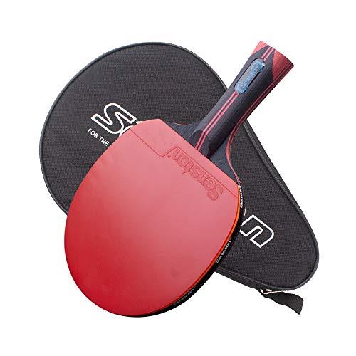 Senston Hochwertig Tischtennisschläger, 7-lagiges Ayous Profi Tischtennisschlaeger mit Koffer, Tischtennis Schläger für High-End-Spieler und Training