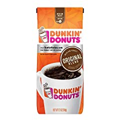 Contains 1 - 12 Ounce Bag of Ground Coffee Pre-ground for easy brewing Medium Roast Coffee Signature Dunkin' taste America runs on Dunkin!