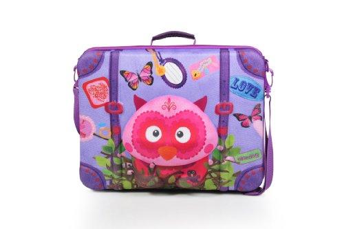 okiedog wildpack 80073 Valise pour Enfants en Aspect 3D Hibou, Rose Fuchsia