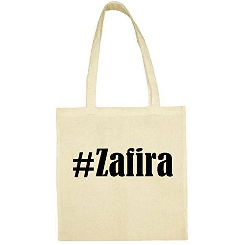 Tasche #Zafira Größe 38x42 Farbe Natur Druck Schwarz