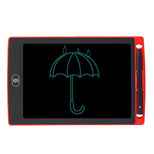 Bewinner1 LCD Writing Tablet, 8.5in No Bright Light No Blue Light No Myopia Eye Protection LCD Children Smart Graffiti Drawing Doodle Board One Click To Clear Kids' Doodle Scribbler Boards(Red)