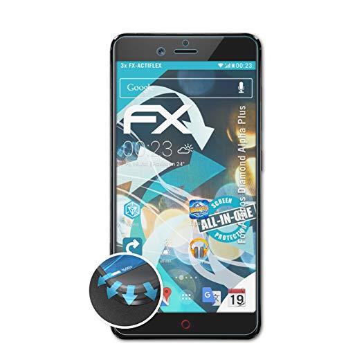 atFolix Schutzfolie kompatibel mit Archos Diamond Alpha Plus Folie, ultraklare & Flexible FX Bildschirmschutzfolie (3X)