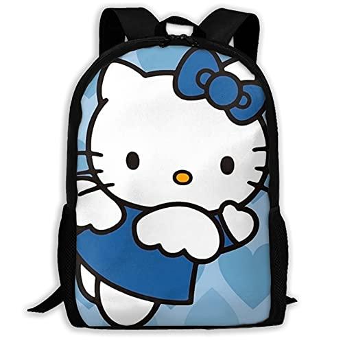Hello Kitty - Mochila escolar para mujer, color azul