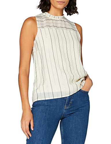 Vero Moda Vmovida S/l Top Wvn Camiseta sin Mangas, Abedul, Mujer