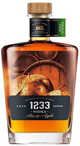 1233 Apple Vodka aus Eichenfässern, Apfelwodka aus Polen, 0,7 L, 40% Vol.