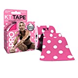 KT Tape Pro Kinesiology Therapeutic Sports Tape, 20 Precut 10 inch Strips, Latex Free, Water Resistance, Pro & Olympic Choice, Pink Polka Dots