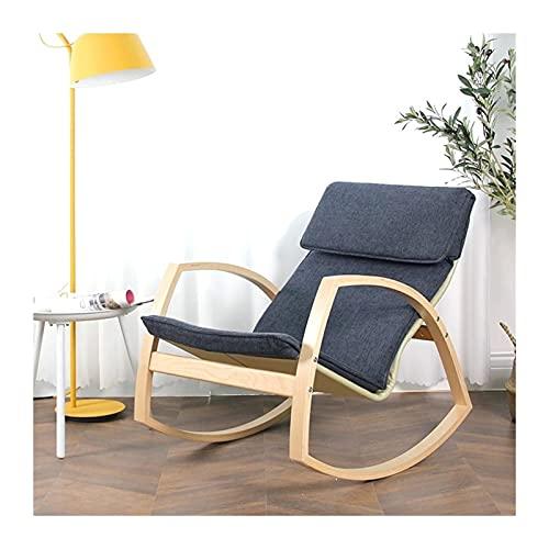 LIXIONG-sillón Mecedora, Tela Sillón Cabeza Almohada, Cómodo Acolchado Asiento, Relajante Silla por Sala de Estar Patio Balcón, 8 Colores (Color : A, Size : 103x64x79cm)