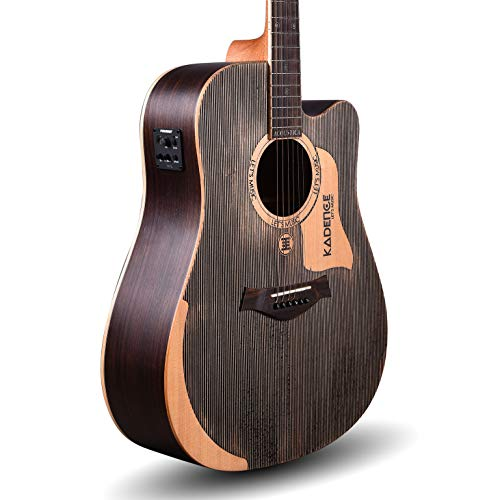 "Kadence Acoustica Series 41"" Semi Acoustic Guitar Solid Wood A1002 With Fishman Equalizer"