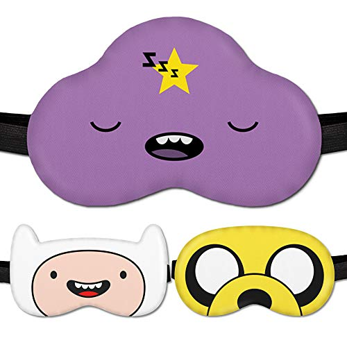 Sleeping Mask for Kids Girl Women Children Kids - Sleep mask 100% Soft Cotton - Comfortable Eye Sleeping Mask Night Cover Blindfoldfor Travel Airplane (Lumpy-Princess Purple, Gift Pack)