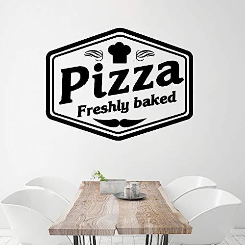 Heiße Pizza Vinyl frisch gebackene Wandaufkleber, entfernbare Raum Wandtattoos, verwendet für Ladendekoration Tapetenaufkleber A6 L 43cm X 56cm