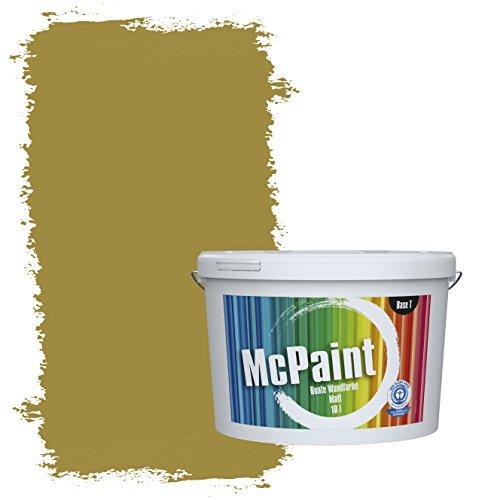 McPaint Bunte Wandfarbe Olivgrün - 10 Liter - Weitere Grüne Farbtöne Erhältlich - Weitere Größen Verfügbar
