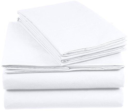 AmazonBasics Everyday Duvet Cover Set with 2 Pillowcases, Super King - White