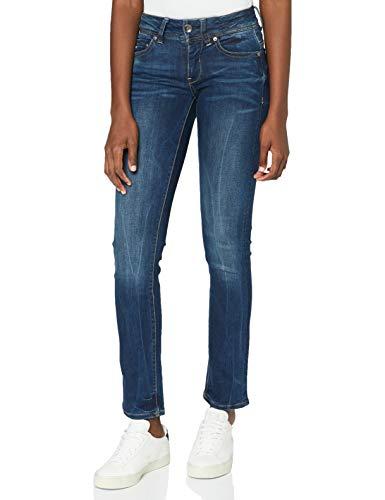 G-STAR RAW Damen Jeans Midge Mid Waist Straight, Dk Aged 6553-89, 28W / 30L