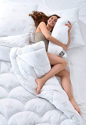 sei Design 4Tlg. Set SWAN 2X Bettdecken 135 200, 2X Kopfkissen 80x80 cm | Füllung aus 100% Mikrofaser