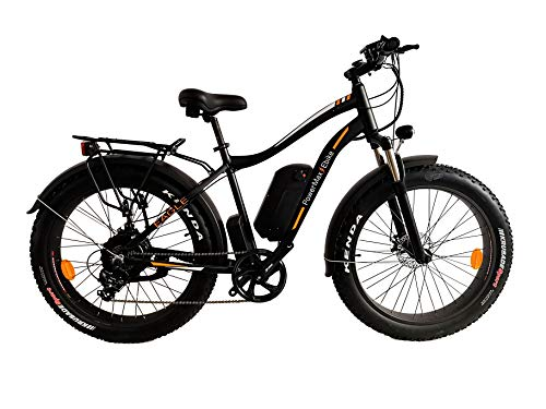 PowerMax Ebike 'Super Fast 1000W Fat Bike with High Performance 48V Lithium ion Battery. Perfect ebike for City, Beach and Mountain Rides. Most Powerful Fat Tire Bike in 2020.