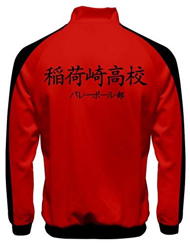 Chaqueta Haikyuu para hombre de anime voleibol club de escuela secundaria uniforme Karasuno Outwear unisex manga cremallera completa Karasuno Cosplay cortavientos chaqueta