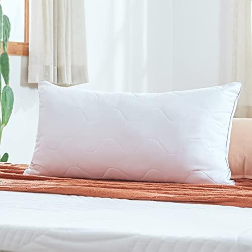 Sweetnight Kopfkissen 40x80 Kissen Schlafkissen für kinder gegen nackenschmerzen 800g Polyesterholfaser Kissenfüllung mit Reißverschluss [Kissen 40 80]