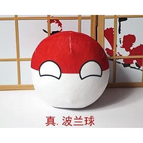 New Polandball Plüschtiere Frankreich USA Niederlande GBR UN Roma Kanada CHE Indien Countryball Plüsch Puppe Kissen Cosplay Geschenk