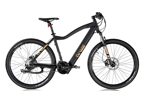 Allegro Invisible Dialm E-Bike Mountainbike Herren 27,5 Zoll, E-MTB, Elektro Mountenbike E-Bike, Schwarz