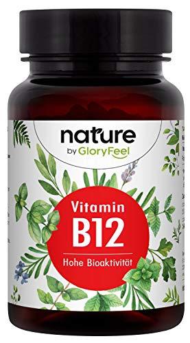 Vitamin B12 Vergleichsssieger 2020* - 200 Tabletten für über 13 Monate - Bioaktive B12-Formen + Depotform Hydroxocobalamin + 200µg Folsäure 5-MTHF - Laborgeprüft hergestellt in Deutschland